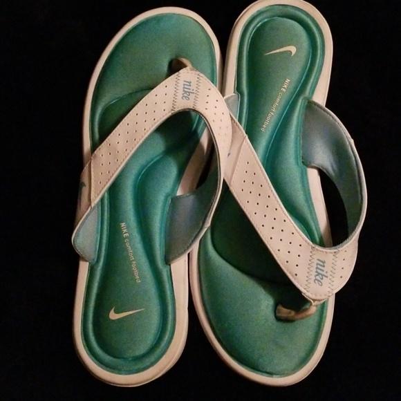 Blue Nike Padded Flip Flops   Poshmark